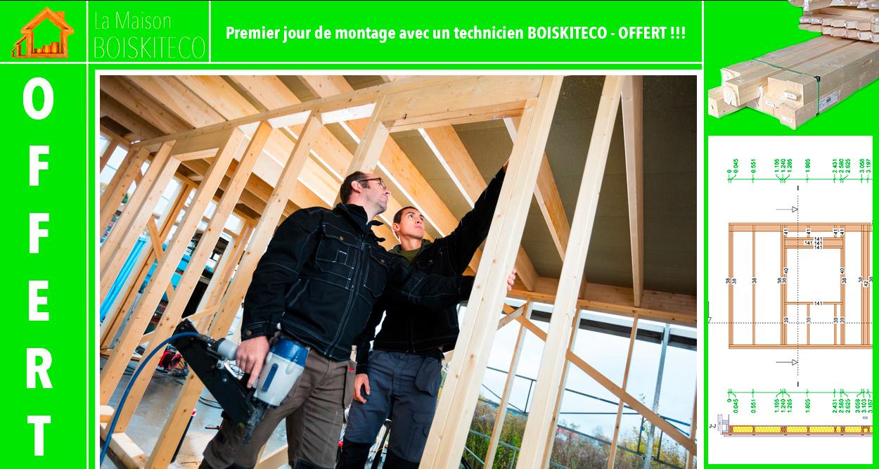 montage maison en bois en kit