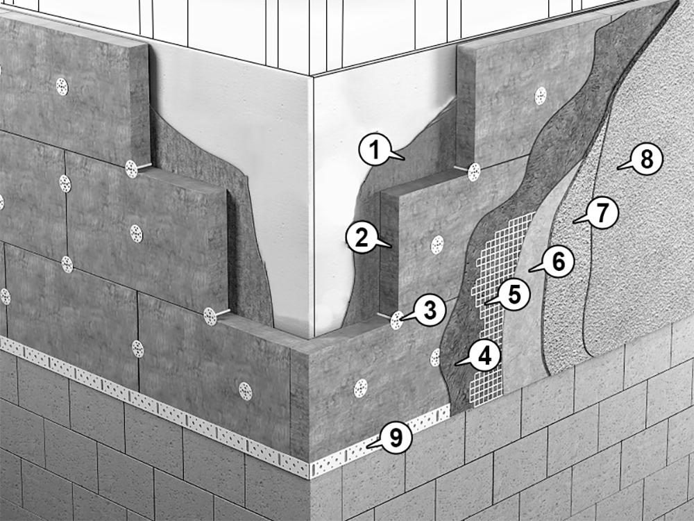 isolation par extérieur sur mur à ossature bois en détailles