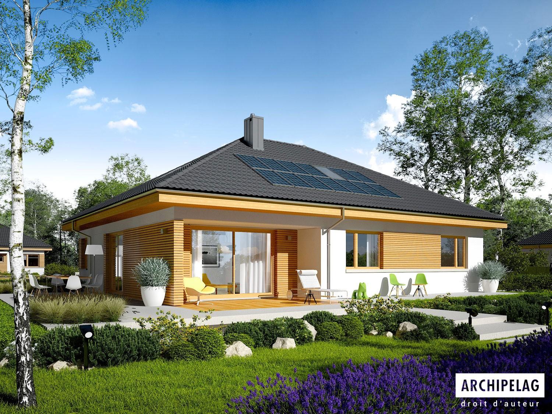 Maison en bois kit ossature bois isolations ext prix hors d 39 air astrid ii g1 142 m2 2 - Maison bois prefabriquee prix ...