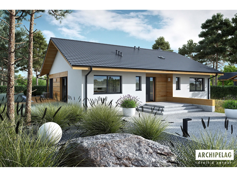 Maison en bois kit à ossature bois, isolation extérieur RT ...