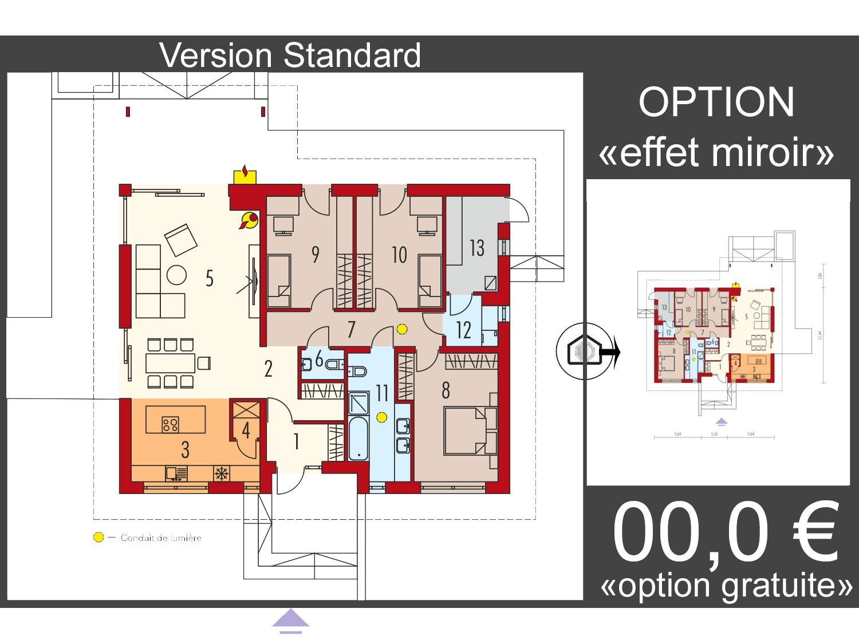 Maison en bois kit à ossature bois, isolation extérieur RT 2020 / Plan de maison moderne MINI 4W ...
