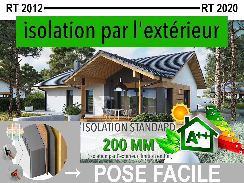 Maison En Bois Kit à Ossature Bois Isolation Extérieur Rt