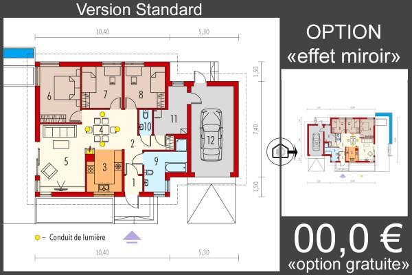Maison En Bois Kit à Ossature Bois Plan De Maison Anabela G1 97 M Isolation Rt 2020