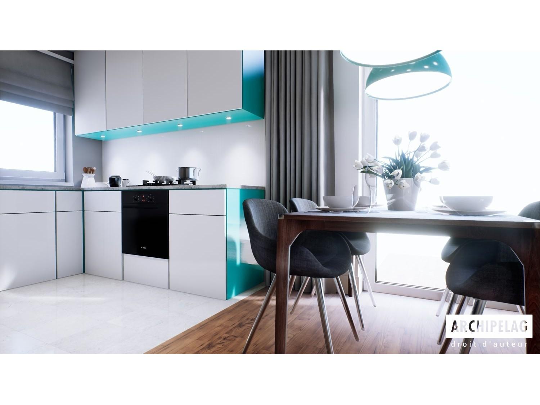 maison ossature bois kit mini 1g1 88 52 m 3 chambres. Black Bedroom Furniture Sets. Home Design Ideas