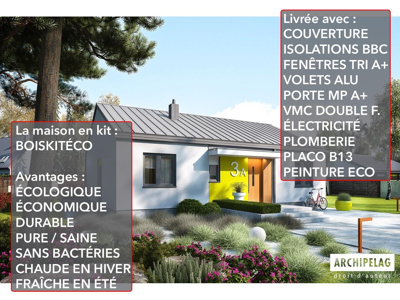 Maison ossature bois / Plan de maison moderne KIT \
