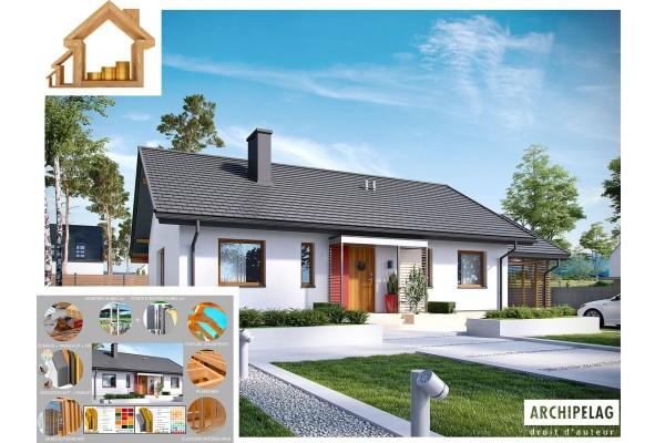 """Maison en bois / kit en ossature bois """"KORNEL VI ZW"""" 3..."""