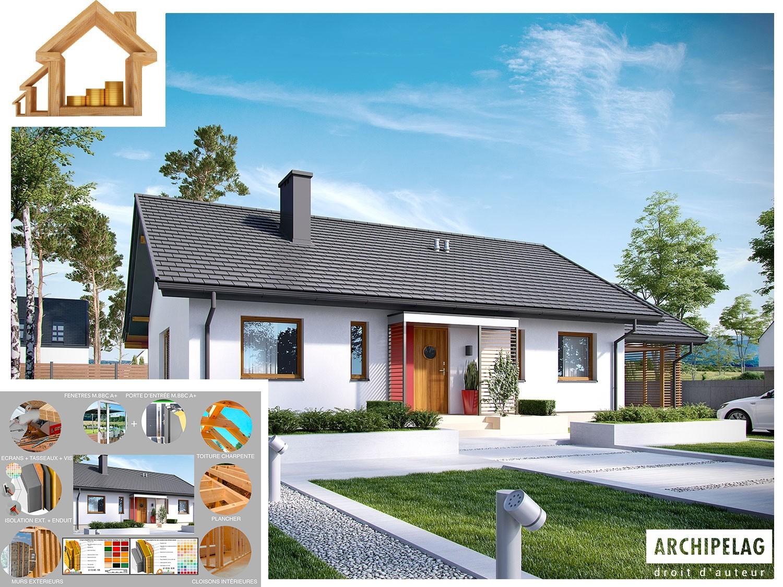 maison en bois kit en ossature bois kornel vi zw 3. Black Bedroom Furniture Sets. Home Design Ideas