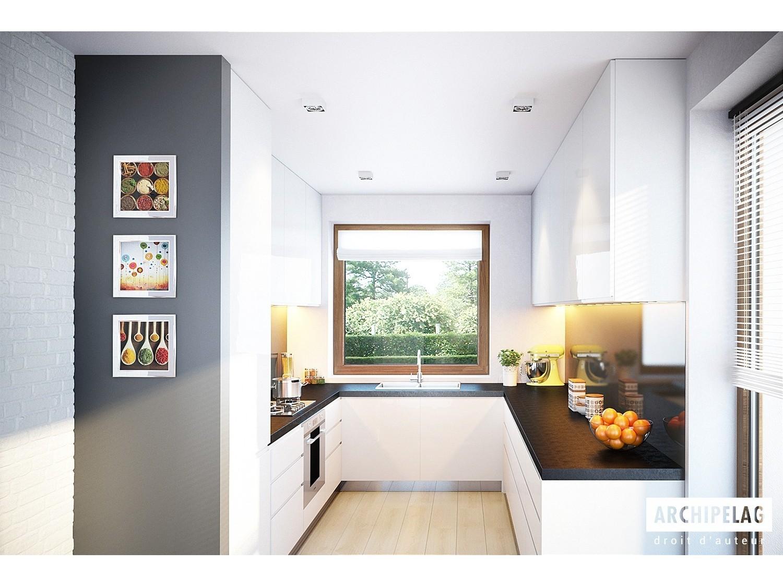 maison en bois kit ossature bois kornel v 100 m 3. Black Bedroom Furniture Sets. Home Design Ideas