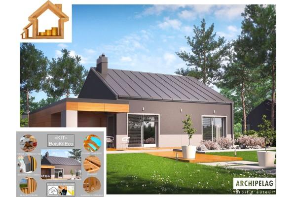 Maison en bois / Kit à ossature bois / Isolations RT2020...
