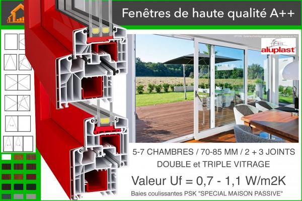 Maison ossature bois pr fabriqu e en kit mini 3 isolation par l 39 ext rieur rt 2020 87 m2 - Maison bois prefabriquee prix ...