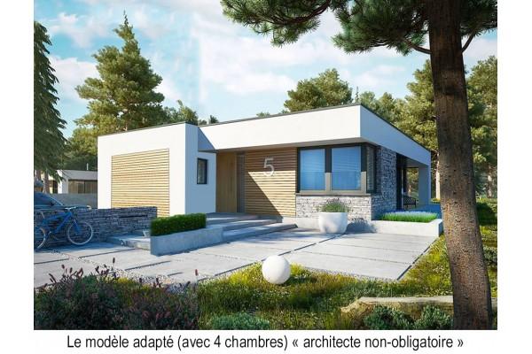 Dossier, permis de construire Maison ossature bois kit...
