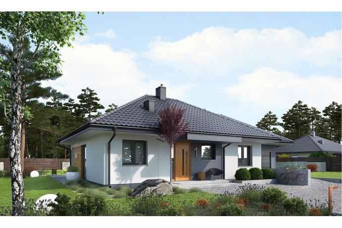 """Maison ossature bois kit """"MINI 1G1"""" 88,52 m² 3 chambres + 20,00 m² garage (option) / RT 2020 / Autoconstruction"""