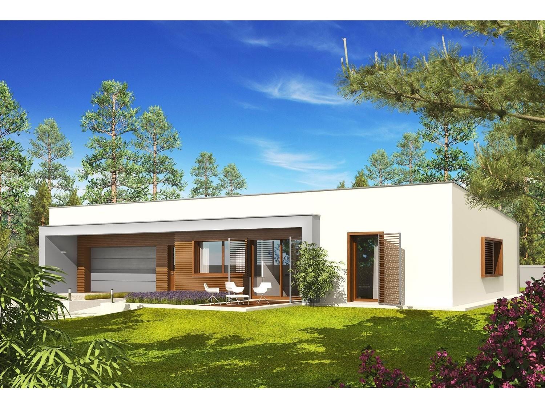 """Constructeur Maison Toulouse Prix maison ossature bois kit """"ex8 sosf w.c"""" 132 m² + garage 28 m² / plain-pied,  toit plat"""