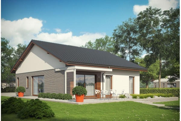 maison avec garage bois
