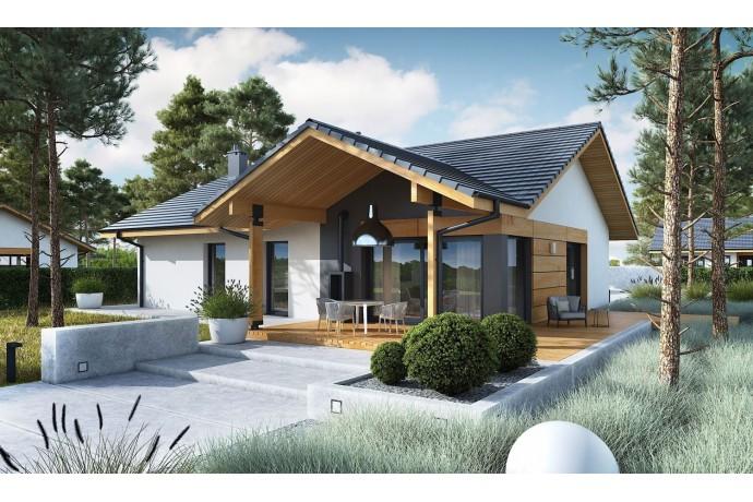 Maison en bois kit à ossature bois, isolation extérieur RT 2020 / Plan de maison moderne MINI 4W II 130 M² 3/5 chambres