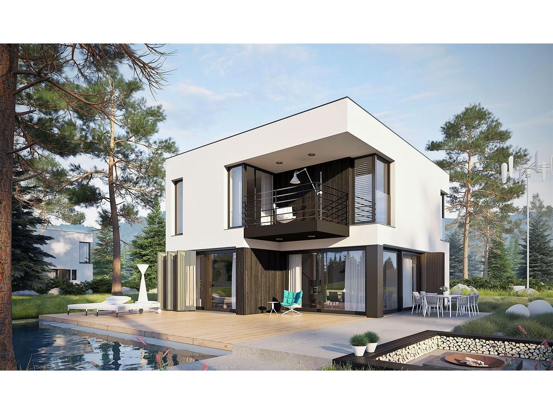 Maison ossature bois kit EX 9 PASSIVE RT 9090, kit BoisKitEco 9,9 m²