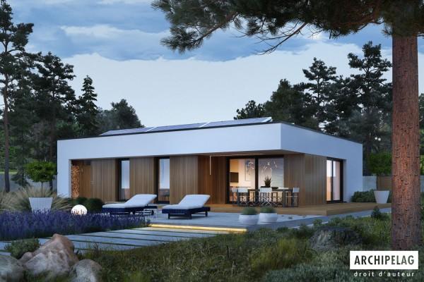 Dossier permis de construire pour maison ossature bois kit - Plan maison plain pied 1 chambre ...
