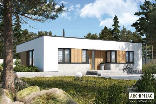 Plans permis de construire pour Maison ossature bois kit...