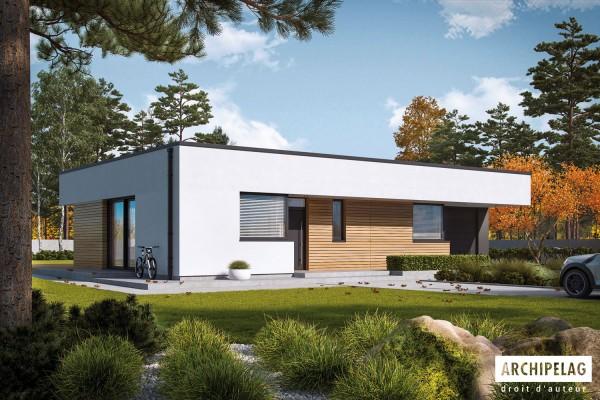 """Maison en bois kit en ossature bois """"MINI 1 G1 MODERN""""..."""