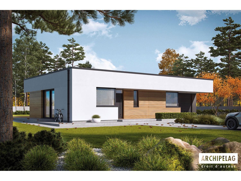 Dossier Permis De Construire Maison En Ossature Bois Mini 1 G1 Modern 95 121 M 3 5 Chambres Toit Plat Auto Construction