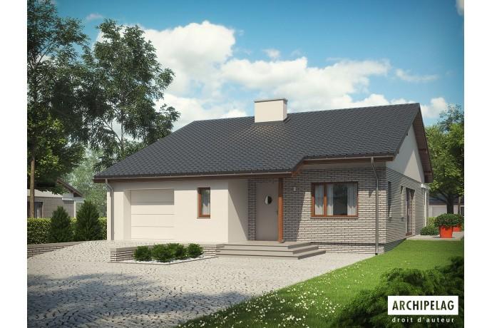 """Permis de construire RT 2012 / Maison en bois en kit à ossature bois / plan """"ARMANDO II G1 ENERGO"""" 111 m²"""