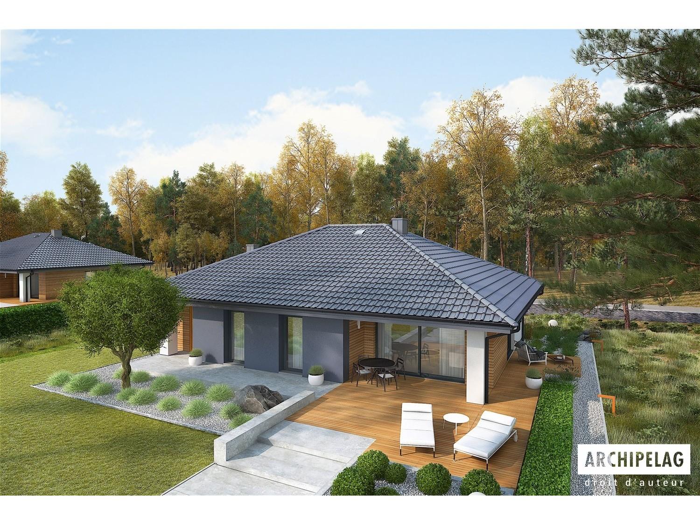 maison en bois kit ossature bois plan mini 4 118 m. Black Bedroom Furniture Sets. Home Design Ideas