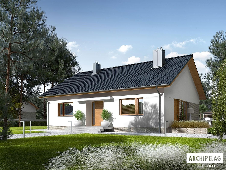maison en bois kit ossature bois plan swen ii 102 m. Black Bedroom Furniture Sets. Home Design Ideas