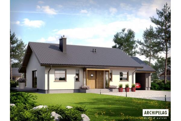 Permis de construire RT 2012, maison ossature bois / plan...