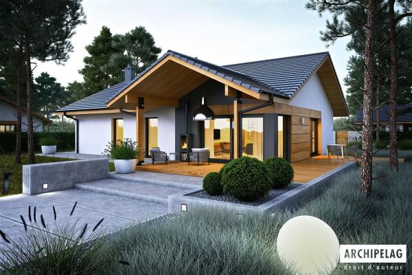 Permis de construire RT 2012 / plan de maison moderne...