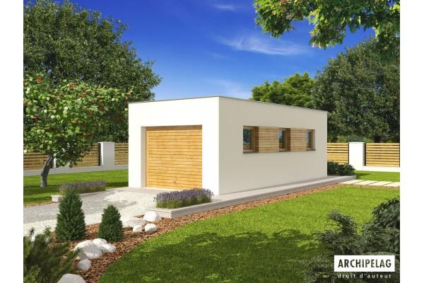 """Garage en bois en kit - plan de garage avec atelier """"G23""""..."""