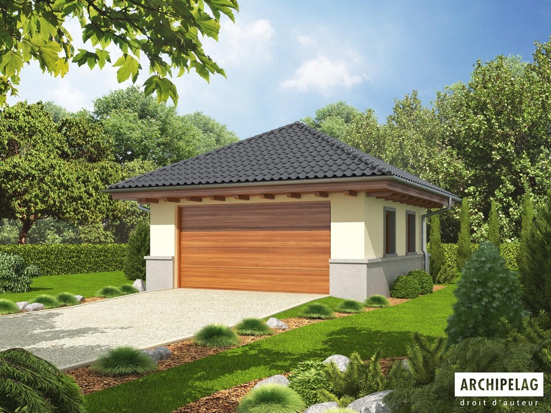 Garage Double En Bois Kit Ossature Bois Plan G18 3290 M²