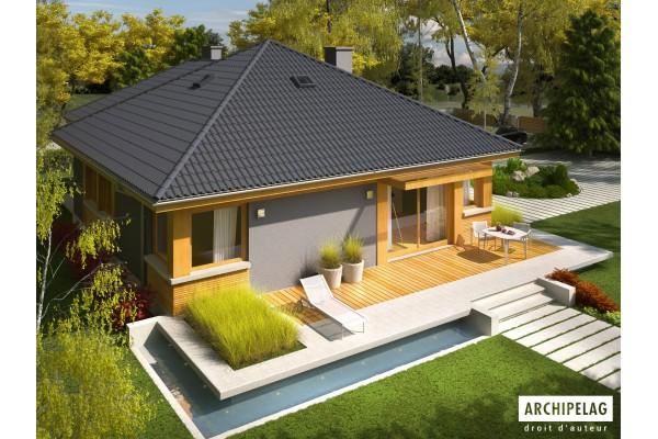 maison en bois kit ossature bois plan de maison. Black Bedroom Furniture Sets. Home Design Ideas