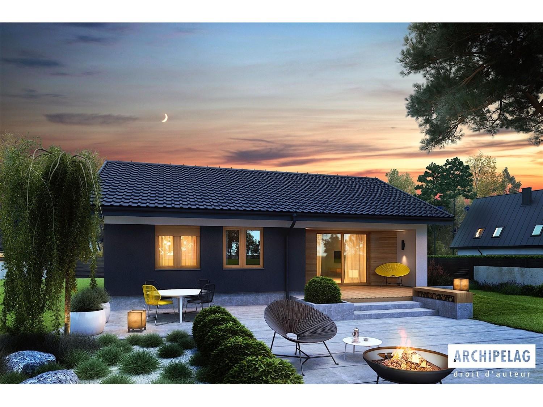 maison ossature bois pr fabriqu e en kit mini 3. Black Bedroom Furniture Sets. Home Design Ideas