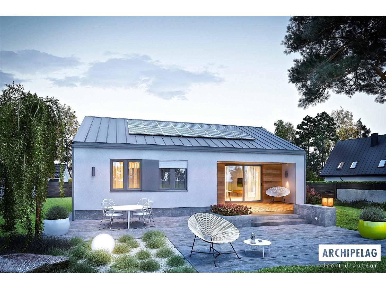 Maison ossature bois plan de maison moderne mini 3 plus 92 63 m2 - Plan maison moderne 3 chambres ...