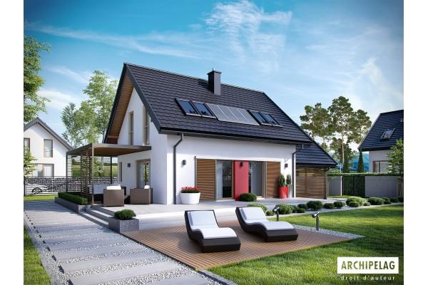 Permis de construire RT 2012 / Plan de maison 4 chambres...