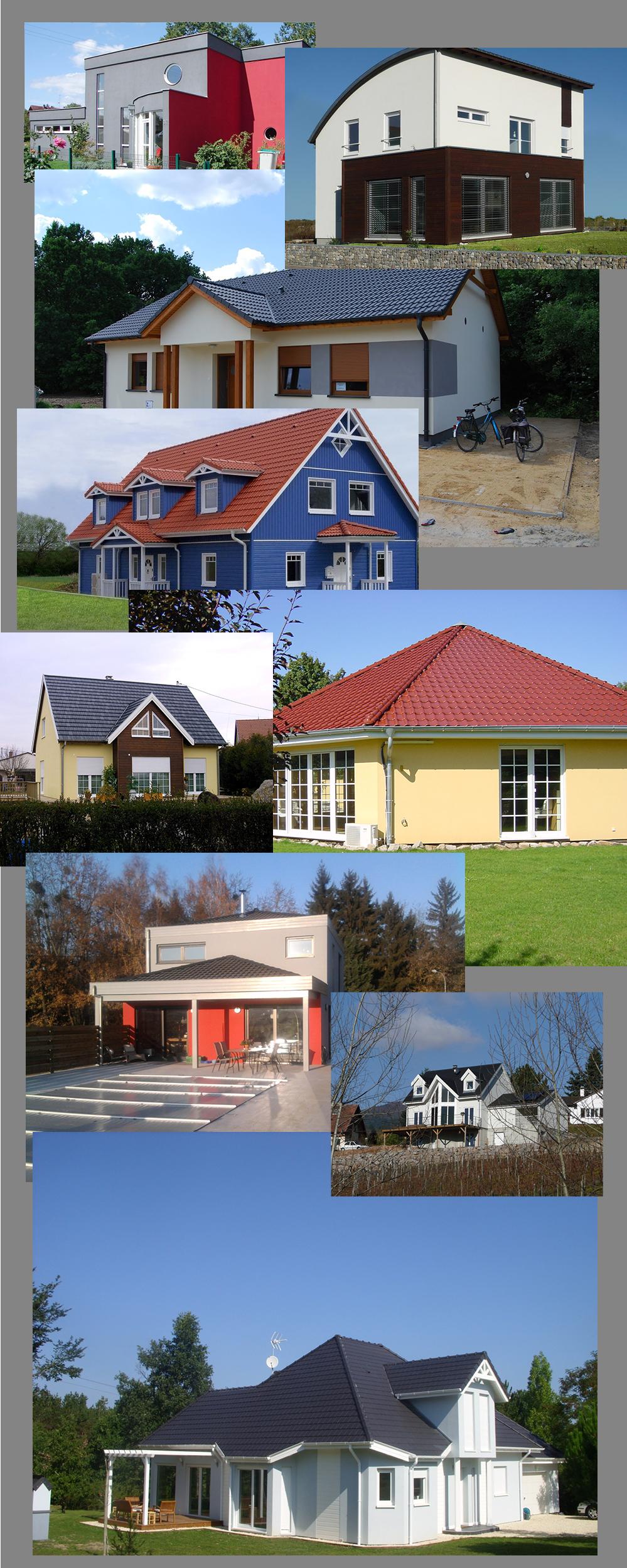 maisons bois avec finition en enduit ou bardage