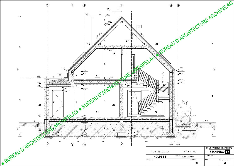 plan de maison architecte