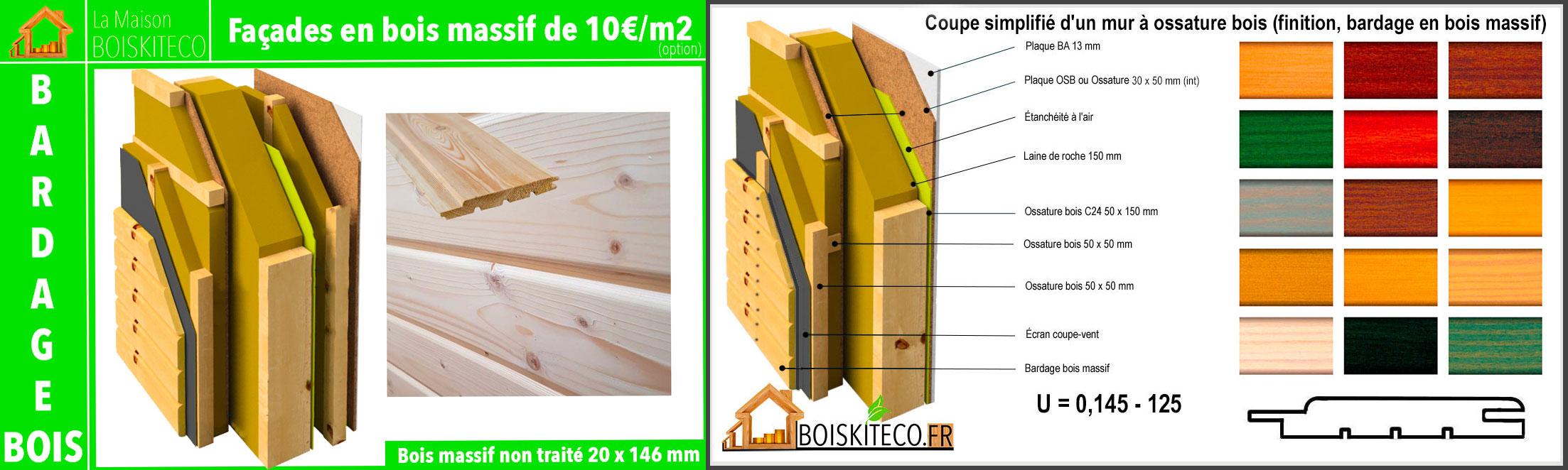 option bardage bois pour kornel