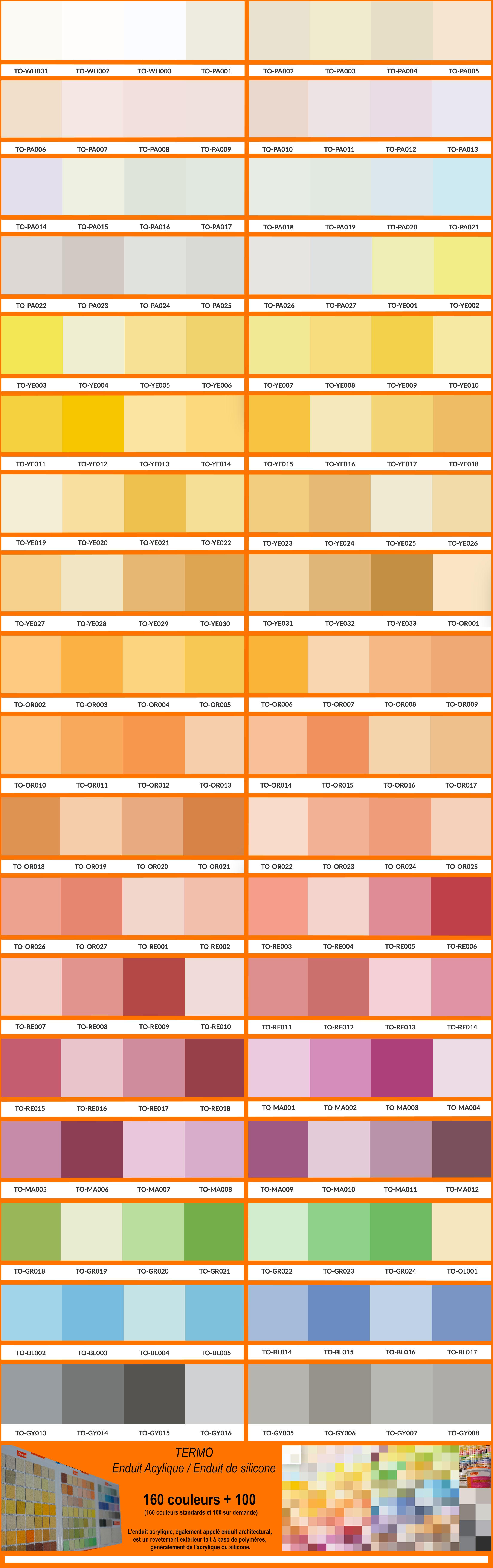 Guide des couleurs enduit maison en bois