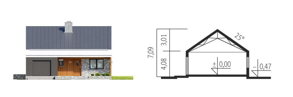 Maison Ossature Bois Plan De Maison Contemporaine Kit Ralf Ii G1 Plus 98 M Garage