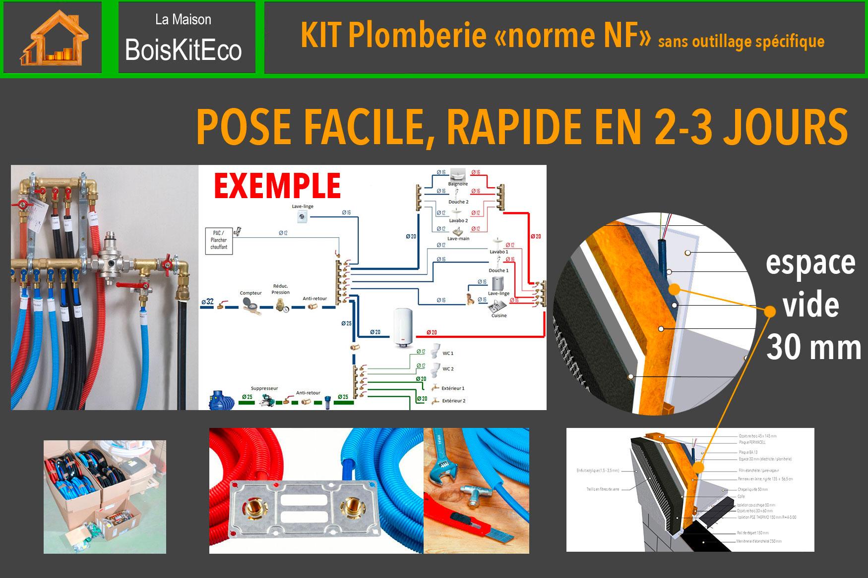 kit plomberie maison bois auto-construction