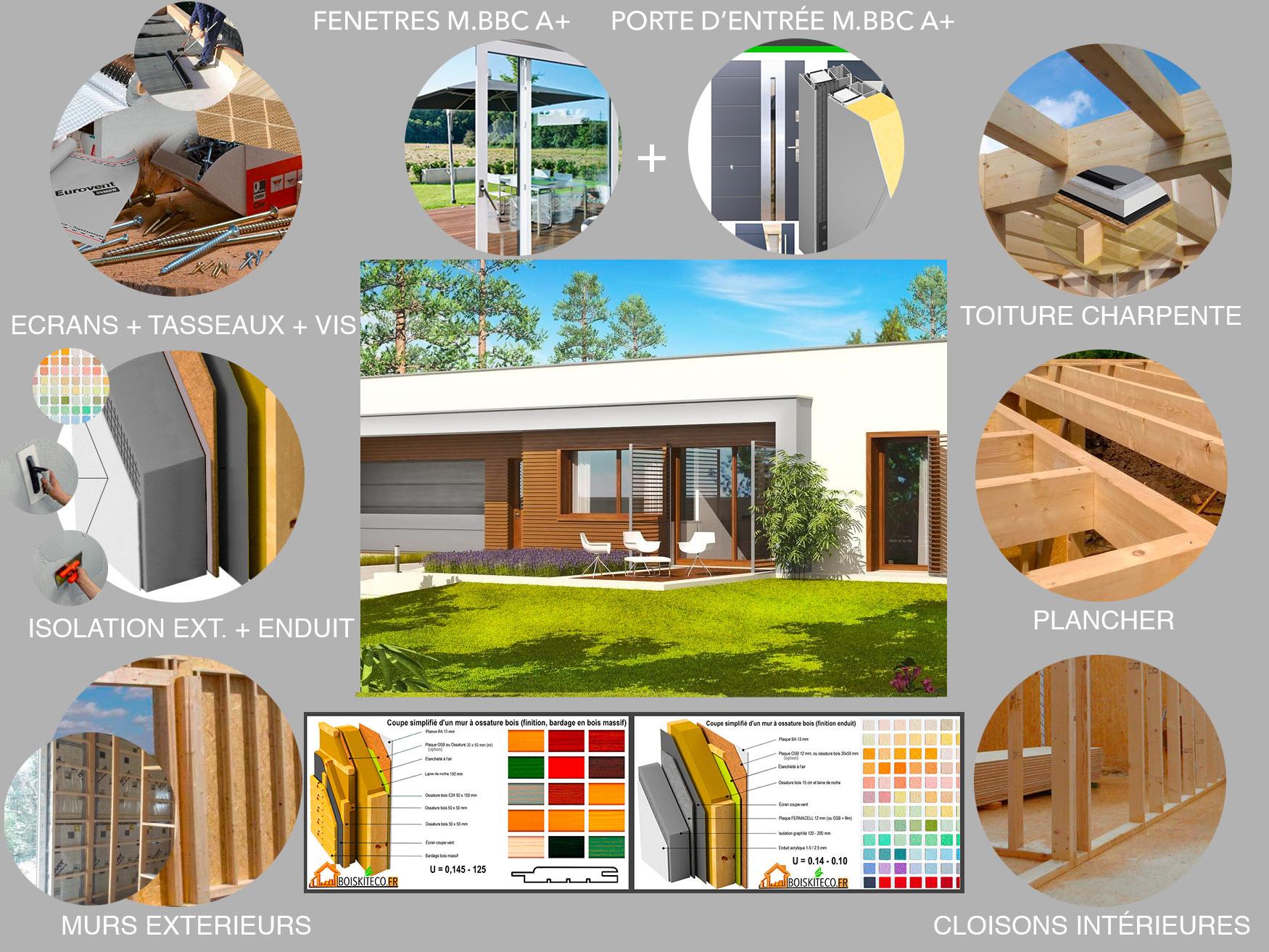 montage kit ossature bois MAISON EX8