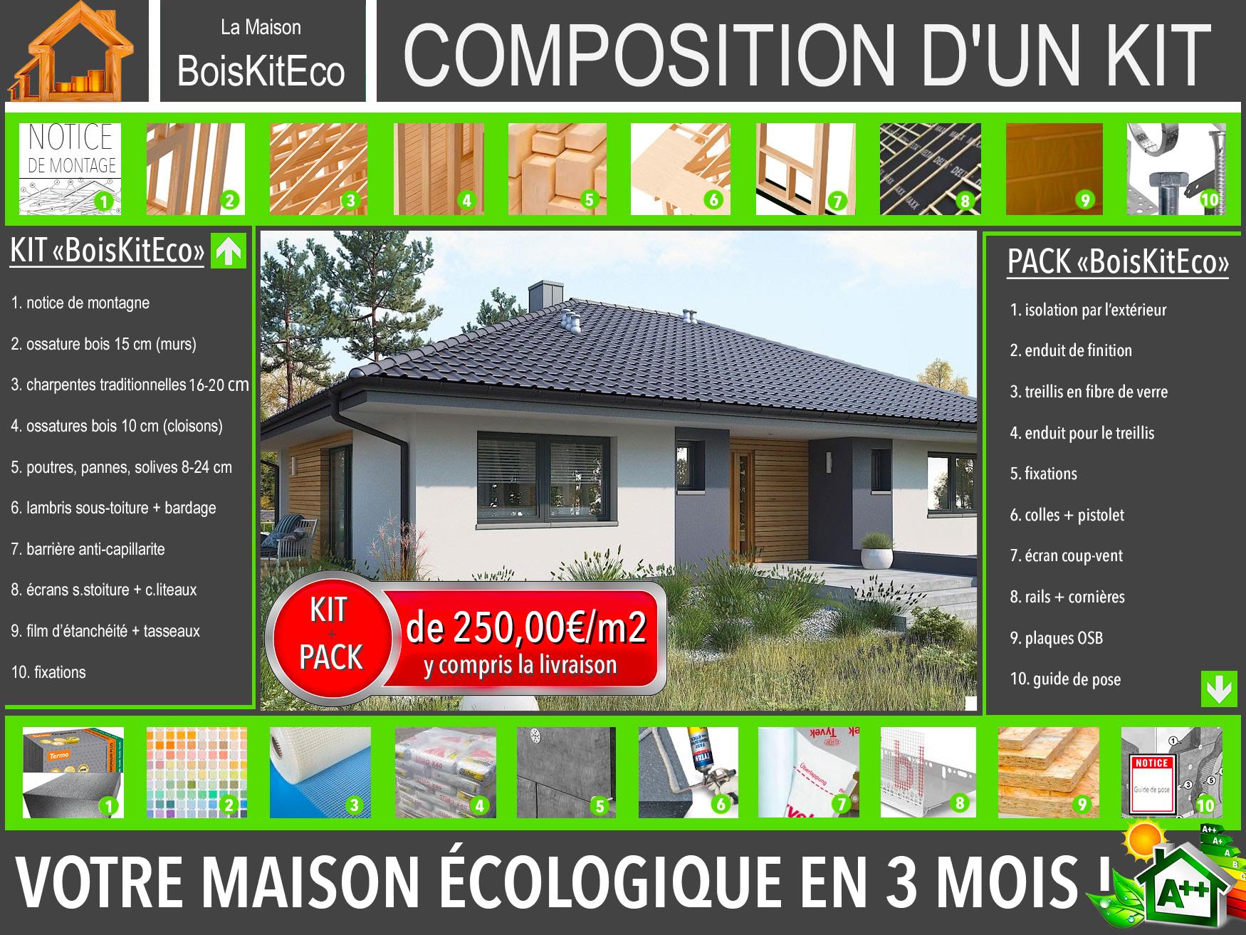 MAISON BOIS KIT OSSATURE BOIS mini 4  PRIX 29587€