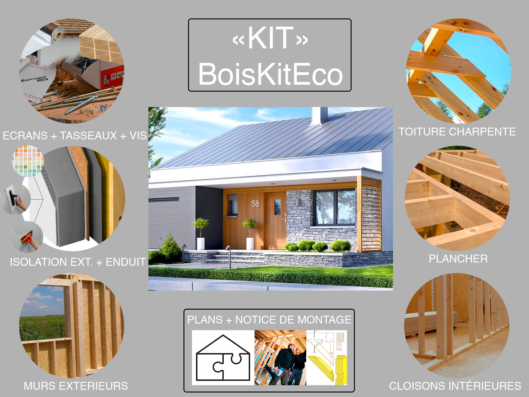 montage kit ossature bois RALF II G1