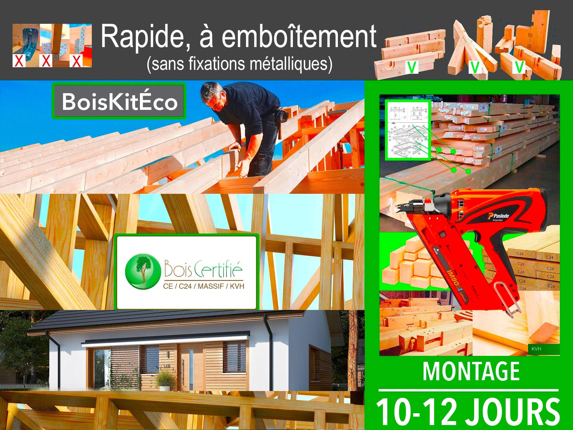 montage kit À ossature bois ELMO