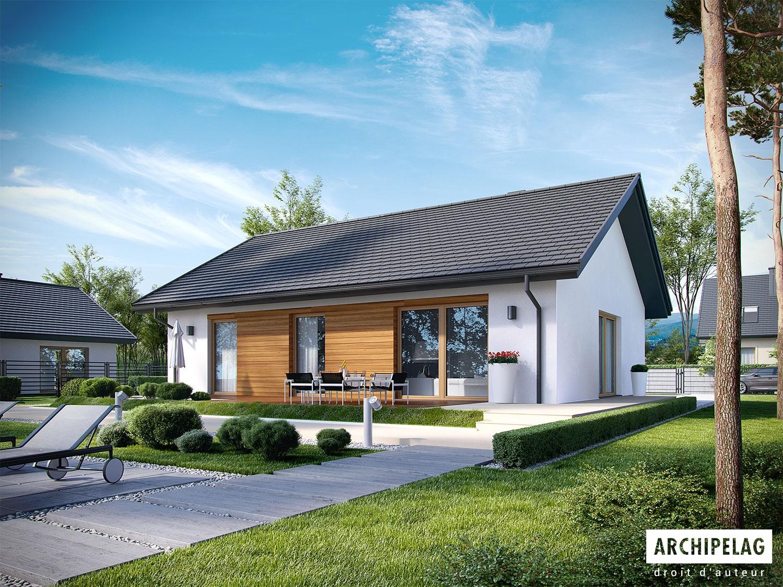 plan de maison KORNEL bureau d'architecture Archipelag
