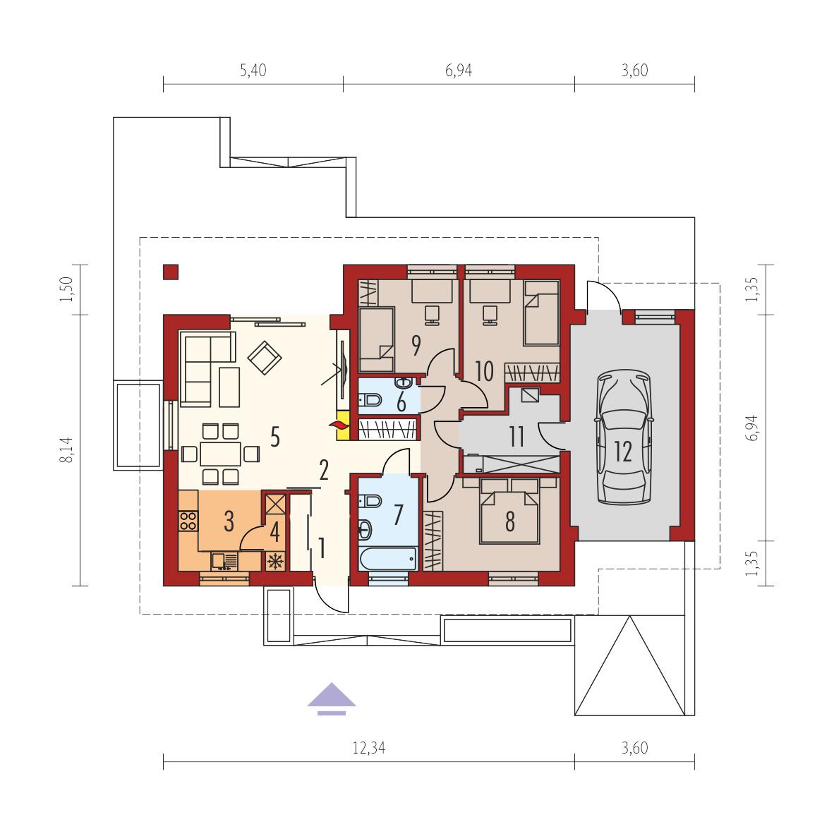 Maison Ossature Bois Kit Mini 1g1 88 52 M 3 Chambres 20 00 M Garage Rt 2020 Autoconstruction