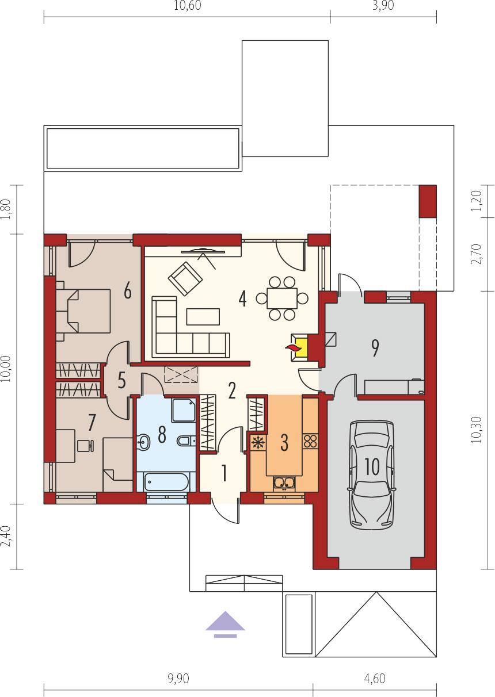 plan de maison plain pied type EDWIN II G1