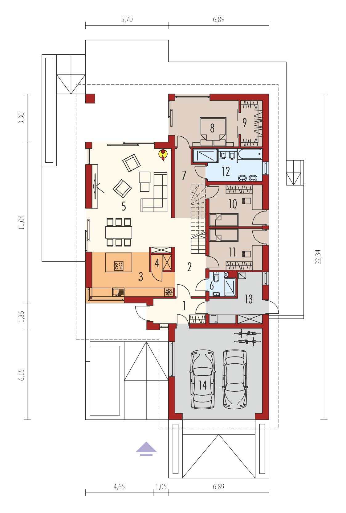 plan de maison moderne ALISON IV