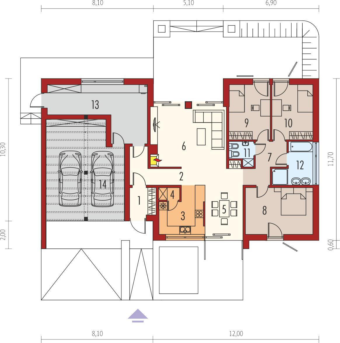 plan de maison EX8